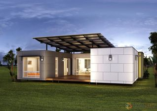 A Simple But Very Practical 3 Bedroom Prefabricated Container Home Design  Perfectly Suited To Small Families Who Love Outdoor Living.